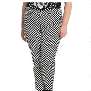 Tripp NYC Black & White Checkered Skinny Pants
